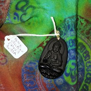 Jewelry - Black obsidian Buddha